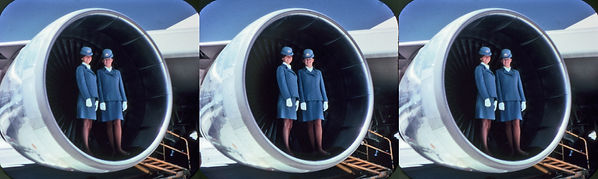 Pan Am 2 reel with two stewardesses by C