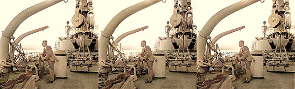 1936 William onboard a Navy vessel that
