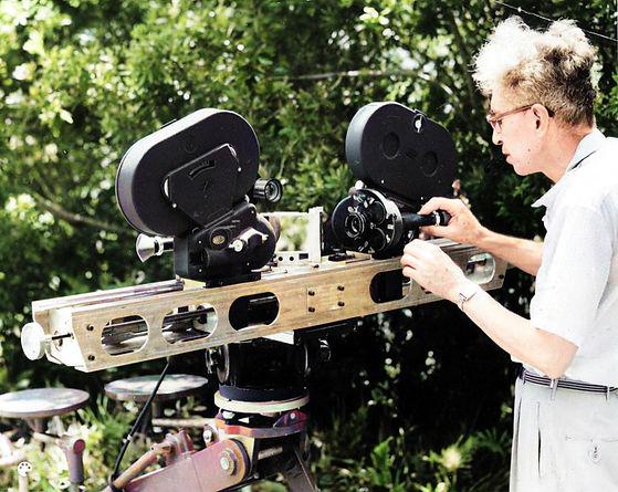 Herbert McKay with the 3-D camera set up
