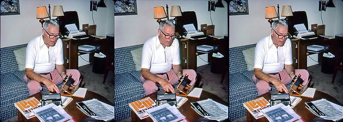 1984 Paul Wing Jr MA working on his book