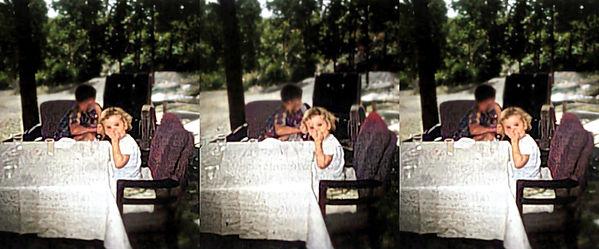 Eisenhower grandchildren not exactly posing - Colorized.jpg