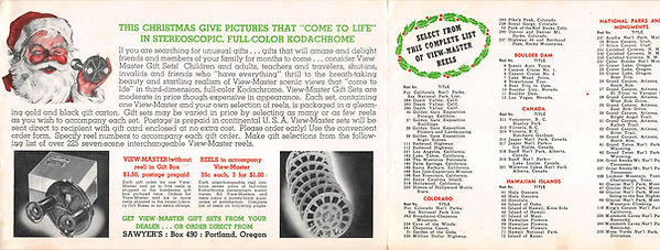 View-Master Model A Christmas Brochure 2
