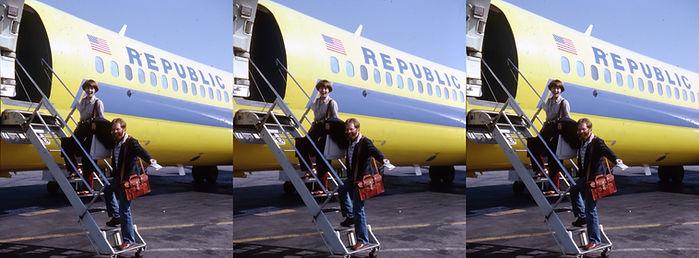 Susan Pinsky & David Starkman boarding a