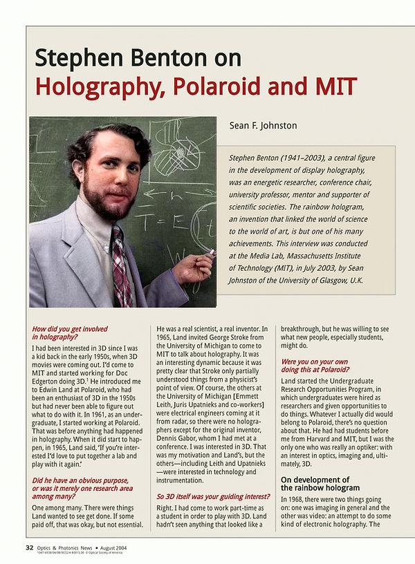 2004 Aug - Optics and Photonics News - S