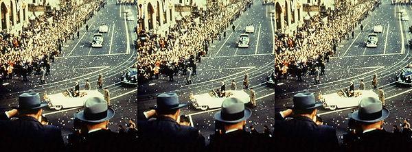 IkeParalIke Inaugural Parade with President Eisenhower passing by.jpg