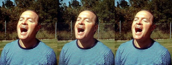 Bob Hope at golf course by George Mann.j