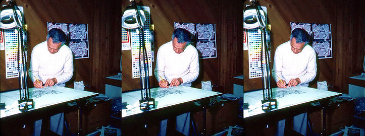 1982 Jack Kirby working on Battle for 3D