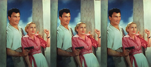 1953 Jack Palance and Joan Fontaine in 3