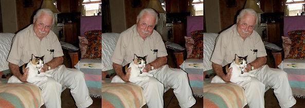 2012 Charley van Pelt and his cat in AZ