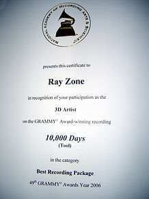 2006 Ray Zone Grammy Award for 10,000 da