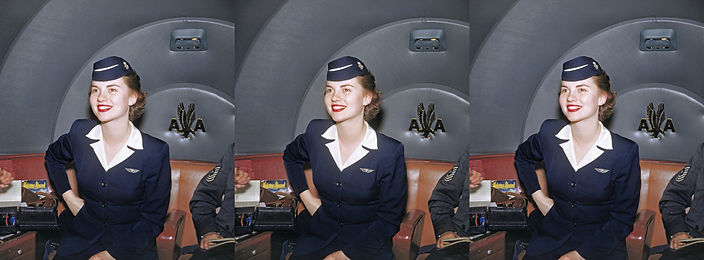 American Airlines STEWARDESS Jan 1953 by