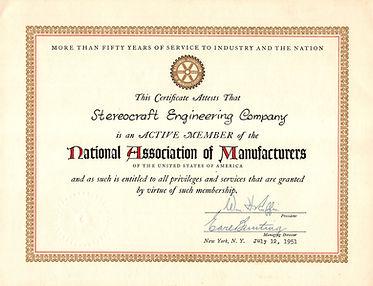 1951 Nat'l Assn of Manuf Stereocraft Eng