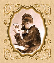 3D Book woman viewing stereo in book sep