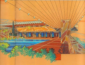 1941 Eaglefeather Frank Lloyd Wright designed house for Arch Oboler 5 color design_edited.