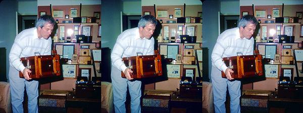 1992 Mike Kessler holding Dag camera 2 b