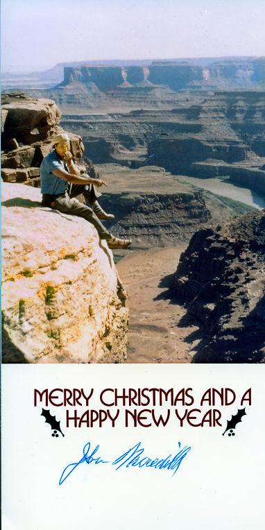 1983 John Meredith Christmas Card to us.