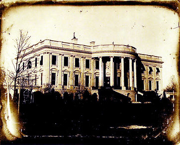 Daguerreotype of U.S. White House by Joh