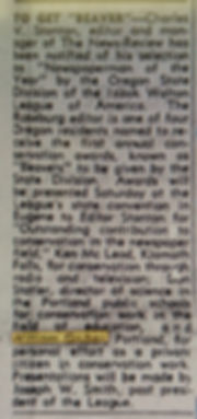 1953 News-Review, Roseburg, OR 3 Dec Bea