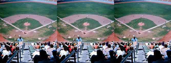 1962 Dodger Stadium stands by George Man