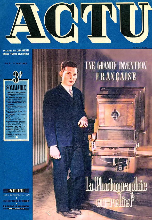 1942 ACTU May French magazine with color