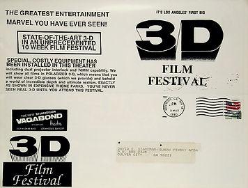 1990 April Premiere Vagabond 3D Film Fes