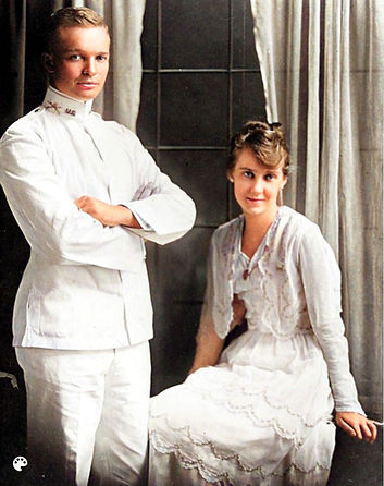 Dwight Eisenhower and Mamie Doud wedding image-Colorized.jpg