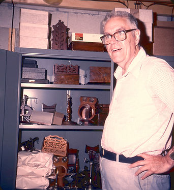 1992 Paul Wing with his basement cabinet