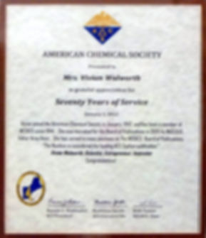 2012 American Chemical Society appreciat