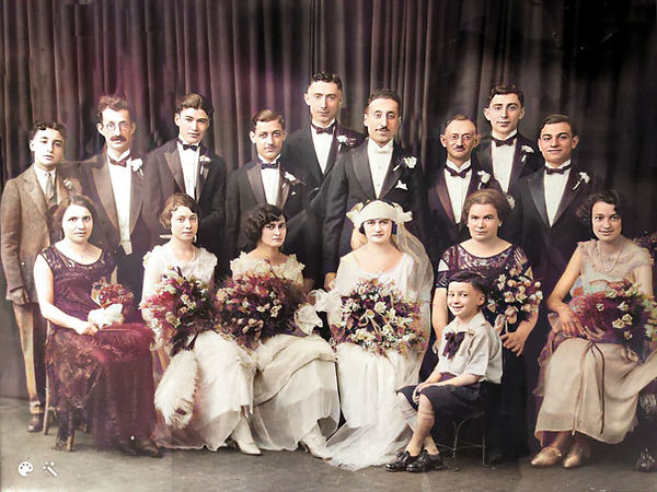 Max Oboler wedding with Arch on left bandw_hi_resai-Colorized-Enhanced.jpg
