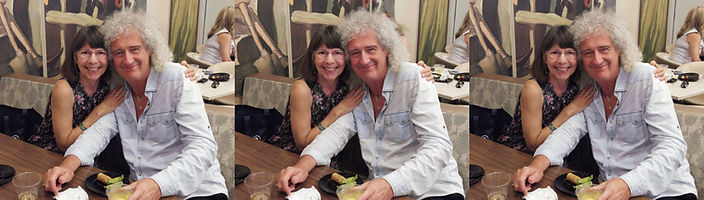 2017 Aug 25 Susan Pinsky with Brian May