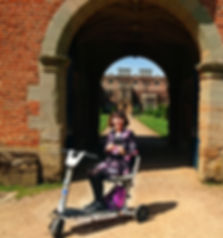 2018 April Susan in the scooter in the U