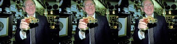 1990 Jack Naylor holding his prize Gold