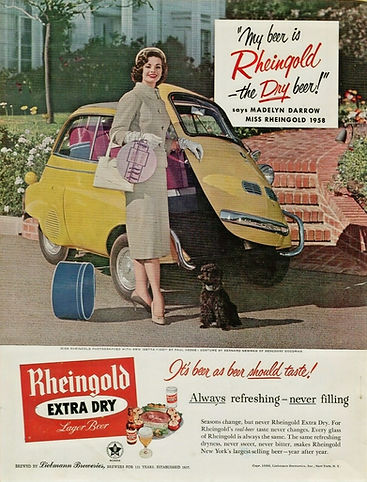 1958 Rheingold Beer Madelyn Darrow Miss