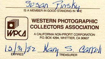WPCA Pinsky membership card.jpg