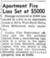1947 LA Times June 10th Apt Fire in John