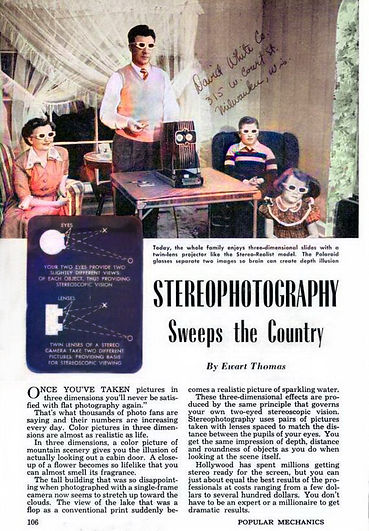 Stereography sweeps the country- Popular