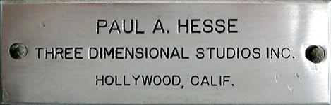 Paul A Hesse Three Dimensional Studios I