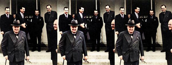 1953 Winston Churchill in Bermuda by DD Eisenhower - Colorized.jpg