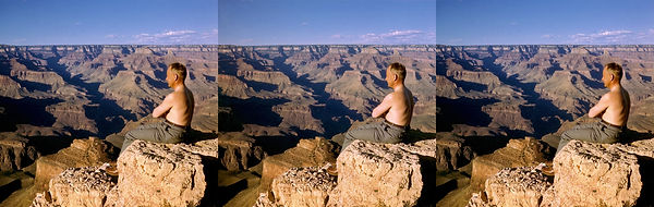William Gruber sitting on the edge of th