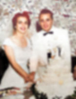1954 Jack and Jan Laxer at wedding-Color