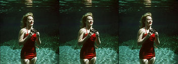 Underwater woman with View-Master camera