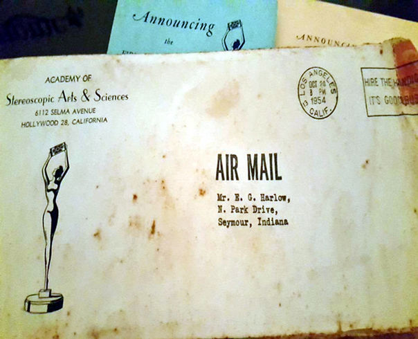 1954_10_24 Envelope from Academy of Ster