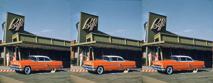 Biffs_restaurant_with_Mercury_car_1950s_