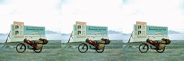 1957 USA bromfietsreis Saltlake  dessert