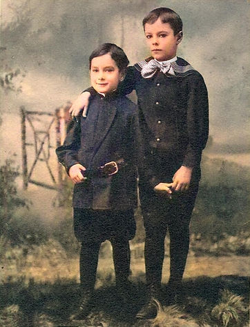 Paul and Otto Hesse as children Paul on