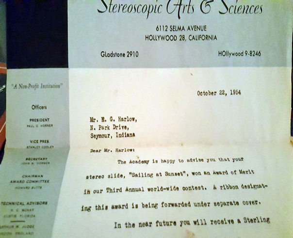 1954_10_24 Letter from Academy of Stereo