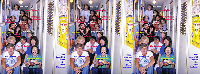 1982 3D Group in our Duarte hallway by D