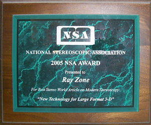 2005 NSA Best Article award to Ray Zone