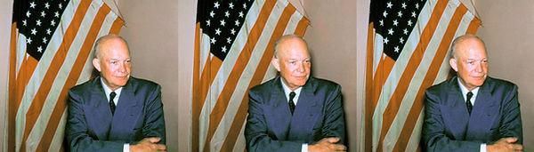 Dwight D. Eisenhower portrait with flag.jpg