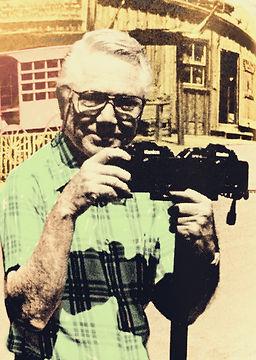 Charley van Pelt with his twin Konica 35